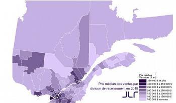 Immobilier: de la croissance dans les régions du Québec