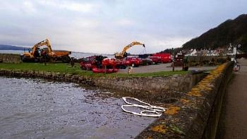 Diggers remove 500 tonnes of contaminated material from Fife beaches