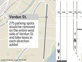Verdun business owners threaten lawsuit over bicycle path